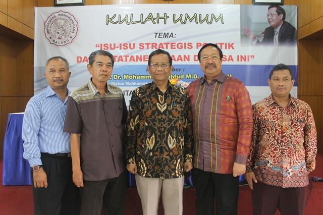 KULIAH UMUM PROF. DR. M MAHFUD MD, SH., S.U.: ISU-ISU STRATEGIS BIDANG POLITIK DAN KETATANEGARAAN DEWASA INI